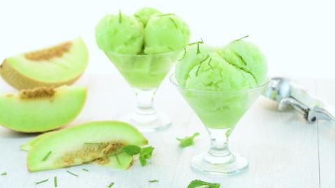 Melon flavored ice-cream Image
