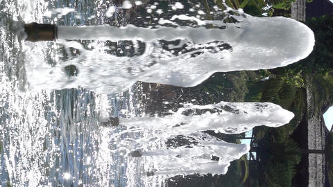 Water fountain (Vertical Shot) Footage