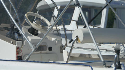 Steering Wheel on Speedboat Footage