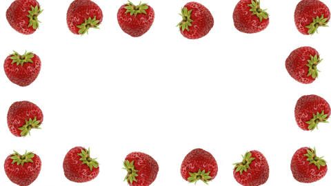 Fresh strawberry frame Archivo