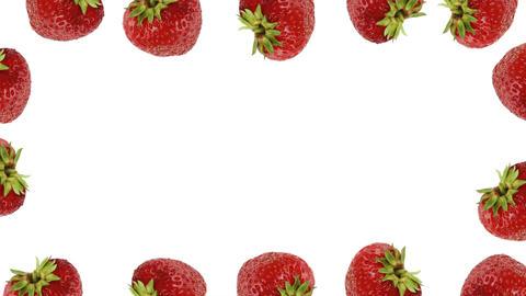 Fresh strawberry frame Footage