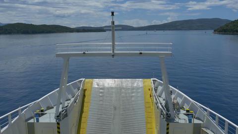 Large Ferry-boat Cruising on Seas Footage