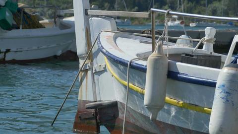 Wood Rudder Old Boat Footage