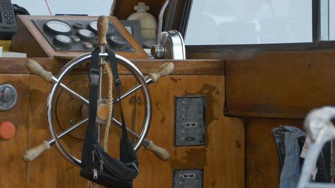 Vintage Boat Steering Wheel Footage