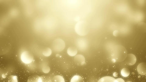 Particles gold bokeh glitter awards dust abstract background vj loop Animation