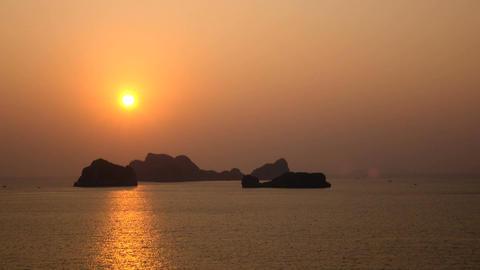 Beautiful views of Ha Long Bay Footage