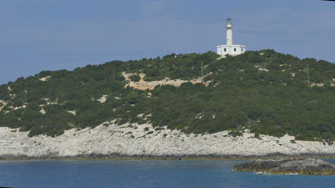 Maritime Lighthouse on Greek Island Footage