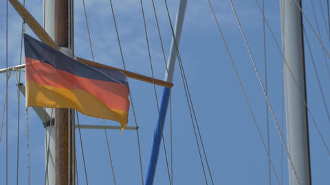 Germany Flag on Ship 画像