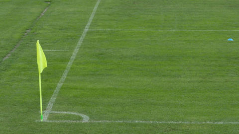Football Pitch Corner Flag Footage