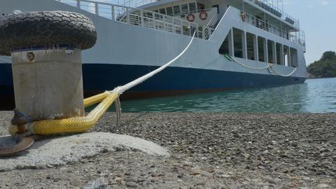 Moored Big Ferry-boat Filmmaterial