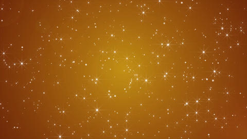 Golden Abstract seamless loop particle blinking background Animation