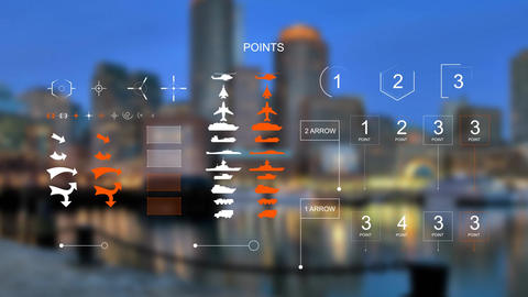 Infographics hud elements After Effects Template