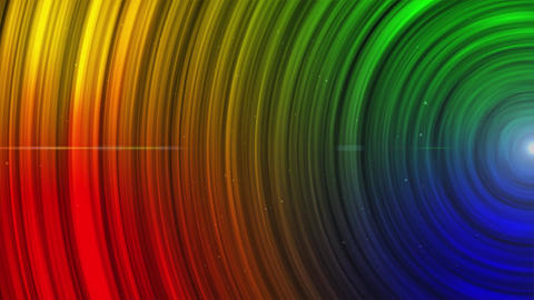 Abstract Animated Glowing multi Color Circles stripes and lines Background Seaml Animation