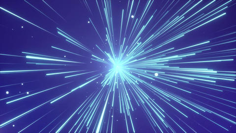 Abstract of warp or hyperspace Motion in Blue Line interstellar travel loop back Animation