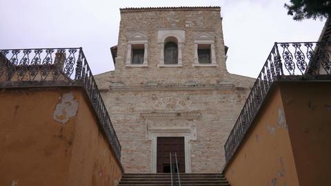 San Salvatore Basilica exterior facade, Umbria, Unesco World Heritage Footage