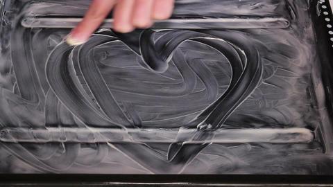 Heart Of Margarine In Baking Pan Footage