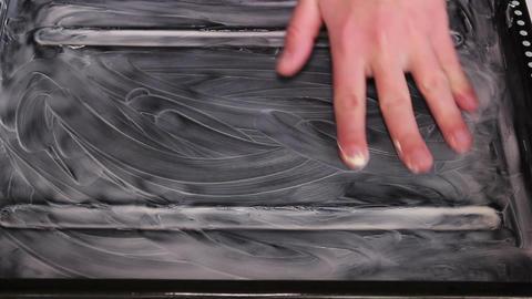 Margarine Baking Pan Footage