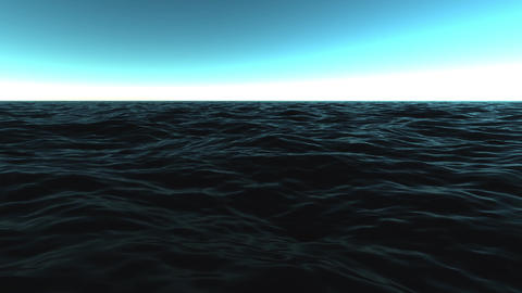 Dark Waters Sea Waves Motion Background Loop 1 CG動画素材