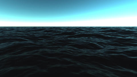 Dark Waters Sea Waves Motion Background Loop 2 CG動画素材