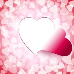 Light Open Cut Heart Background Vector