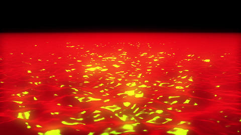 Red Hot Searing Sun Surface Glowing Motion Background Loop 1 CG動画素材