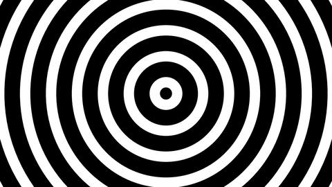 Simple BW Concentric Circles Hypnotic Abstract Motion Background Loop Animación