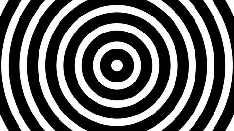 Simple Slow BW Concentric Circles Hypnotic Abstract Motion Background Loop Animation