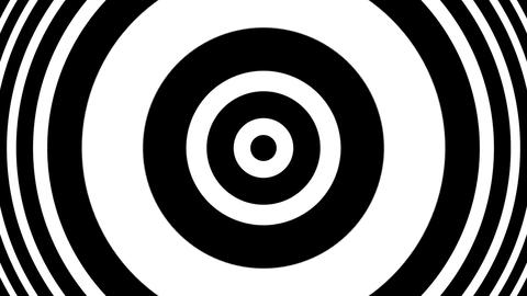 Concentric Pulse BW Circles Hypnotic Abstract Motion Background Loop Animation