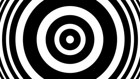 Concentric Pulse BW Circles Slow Hypnotic Abstract Motion Background Loop CG動画素材