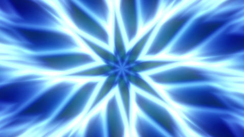 Blue Flower Expanding Mandala Abstract Motion Background Loop 2 Animation