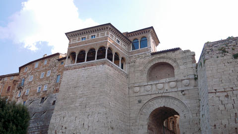 Perugia Etruscan arch Footage