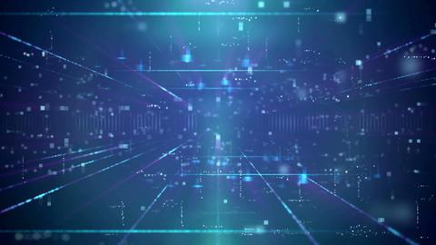 Modern Blue Business Technology Background Animation