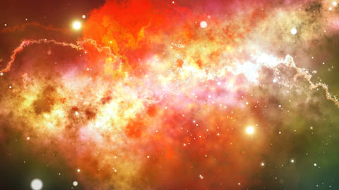 Colorful Starry Night Sky Outer Space background Animation