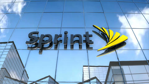 Editorial Sprint logo on glass building Animation
