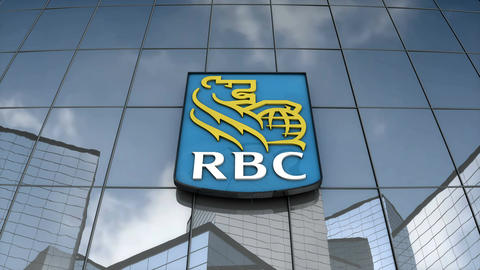 Editorial Royal Bank Canada logo on glass building Animation