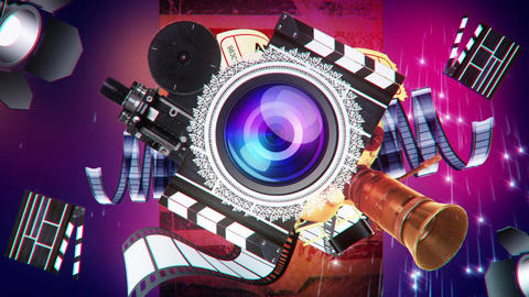 Cinema Reels Rewinding. Cinema Broadcast GIF