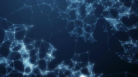 Plexus blue abstract network business technology science background vj loop Animación