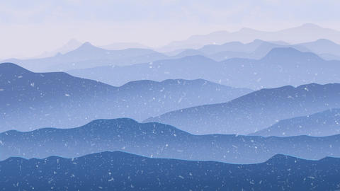 Wallpaper Landscape Concept Mountain Sunrise ビデオ