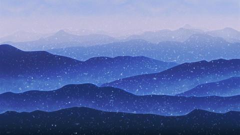 Wallpaper Landscape Concept Mountain Sunrise Footage
