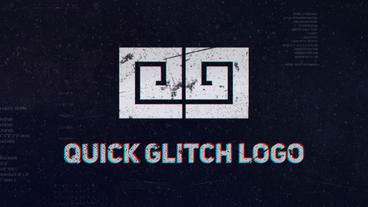 Quick Glitch Logo After Effects Template