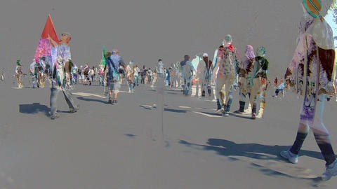 Timelapse walking People, Different Time contrast ビデオ