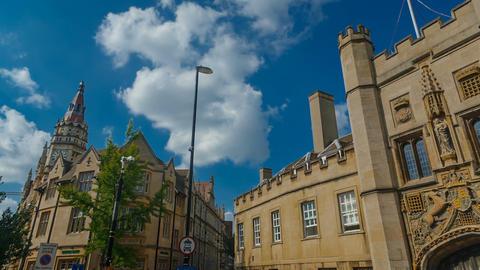 Trinity College University in Cambridge, England, UK Footage