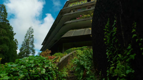 Monte Palace Hotel in The Azores, Portugal Footage