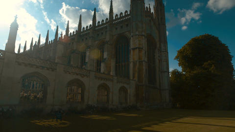 Kings College and University in Cambridge, England, UK Footage