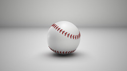 Baseball 3D Modell
