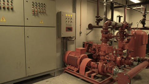 industrial and building fire extinguishing system and control panel Footage