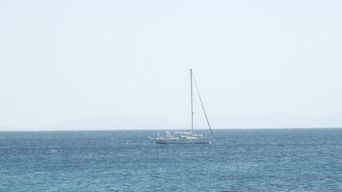 sailing boat crossing the sea Footage