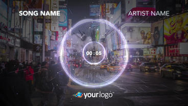 Music Visualizer 02 – After Effects Template After Effects Templates