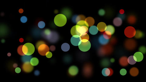 Bokeh with depth of field Animation