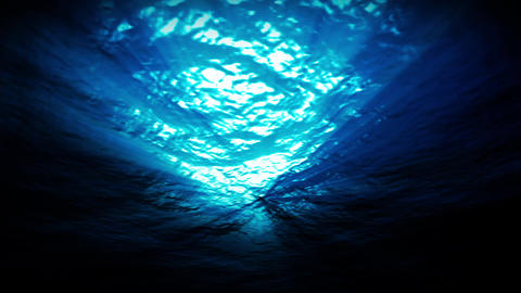light underwater in a azure lagune lagoon Animation